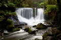 Horseshoe falls in mt field national park early on a winter s morning tasmania australia Royalty Free Stock Photography