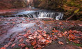 The horseshoe falls Sgwd y Bedol South Wales Royalty Free Stock Photo