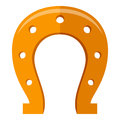 Horseshoe Flat Icon Isolated on White Royalty Free Stock Photo
