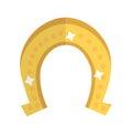 Horseshoe, icon flat style. St. Patrick`s Day symbol. Isolated on white background. Royalty Free Stock Photo