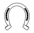 Horseshoe silhouette isolated icon