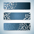 Horseshoes banners set. Royalty Free Stock Image
