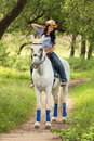 Horsewoman Stock Photography