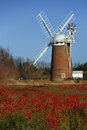 Horsey Windpump - Norfolk - England Royalty Free Stock Photo