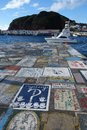 Horta Azores, articrafts of sailors Royalty Free Stock Photo