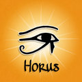 Horus eye illustration of egyptian hieroglyphics and of Stock Photos