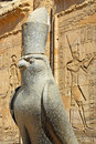 Horus statue is one of the oldest and most significant deities in ancient egyptian religion who was worshipped from at least the Stock Image