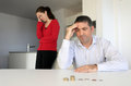 Hosband and wife having financial problems Royalty Free Stock Photo
