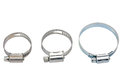 Hose clamp new metal isolated on white Royalty Free Stock Image