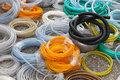 Hoses big bunch of and tube coils Stock Photography