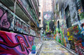 Hosier Lane  - Melbourne Royalty Free Stock Photo