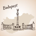 Hosok tere - the major squares in Budapest, Hungary