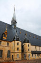 Hospice at beaune historic building the in hotel de dieu hospital for the poor people burgundy france Stock Photo