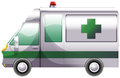 A hospital ambulance illustration of on white background Stock Photos