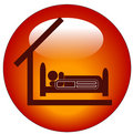 Hospital bed icon Royalty Free Stock Photo
