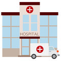 Hospital building icon, vector illustration
