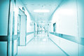 Hospital corridor beijing a ,cool colors Stock Photos