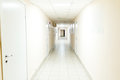 Hospital corridor interior without sicks photo of Stock Photography
