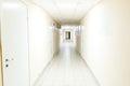Hospital corridor interior without sicks photo of Stock Photography