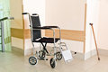 Hospital corridor interior without sicks photo of Royalty Free Stock Image