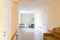 Hospital corridor interior without sicks photo of Stock Image