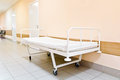 Hospital corridor interior without sicks photo of Stock Photo