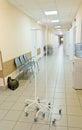 Hospital corridor interior without sicks photo of Stock Photos