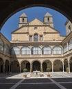 Hospital de Santiago Courtyard in Úbeda Cultural heritage of Royalty Free Stock Photo
