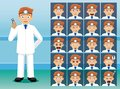Hospital Dentist Cartoon Character Emotion faces
