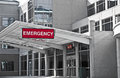 Hospital emergency room new modern entrance Royalty Free Stock Photos
