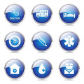Hospital Health Blue Vector Button Icon Set 2 Royalty Free Stock Photo