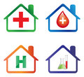 Hospital icons Royalty Free Stock Photo