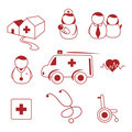Hospital icons Royalty Free Stock Photos