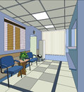 Hospital interior illustration Stock Image