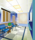 Hospital interior vector illustration Stock Photos