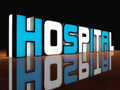 Hospital light d concept design Royalty Free Stock Images