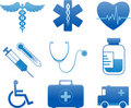 Hospital and medical icons Royalty Free Stock Photos