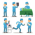 Hospital Medical Staff Character. Surgeon Doctor Cartoon