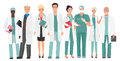 Hospital medical staff Team doctors together. Group of doctors and nurses people character set. Royalty Free Stock Photo