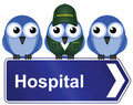 Hospital sign Stock Images
