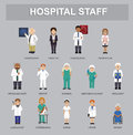Hospital Staff Cartoon Characters Cartoon Vector Illustration