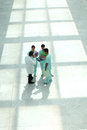 Hospital staff in hallway Royalty Free Stock Photo