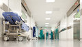 Hospital surgery corridor Royalty Free Stock Photo