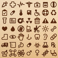 Hospital symbols website and appliaction icon Stock Images