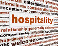 Hospitality creative words conceptual poster generosity message background Stock Photo