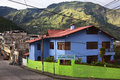 Hostal residencia princesa maria in banos ecuador august at the corner of vicente rocafuerte and juan leon mera streets on august Stock Images