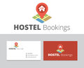 Hostel bookings logo in vector format for many type of media Stock Photo