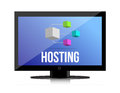 Hosting, Network concept Royalty Free Stock Photo