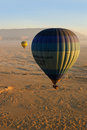 Hot air ballon in Egypt Royalty Free Stock Photography