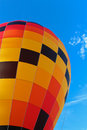 Hot air balloon against blue sky Stock Photos